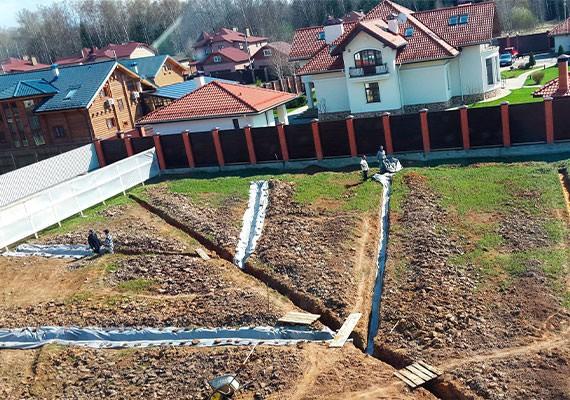 Дренаж участка под ключ в Московской области